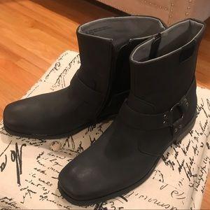 Route 66, black faux leather boots